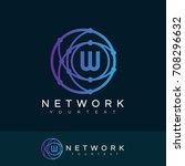 network initial letter w logo... | Shutterstock .eps vector #708296632