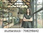 modern business woman in the... | Shutterstock . vector #708298642