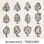 tree set. vector. | Shutterstock .eps vector #70831483