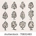 tree set. vector.   Shutterstock .eps vector #70831483
