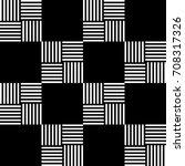 monochrome vector geometric... | Shutterstock .eps vector #708317326