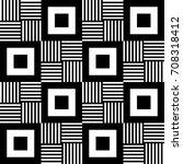 monochrome vector geometric...   Shutterstock .eps vector #708318412