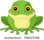 illustration of cute green toad | Shutterstock .eps vector #708319786