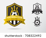set of soccer or football badge ... | Shutterstock .eps vector #708322492