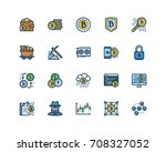 bitcoin icon set  filled... | Shutterstock .eps vector #708327052
