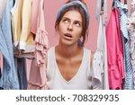 portrait of good looking female ...   Shutterstock . vector #708329935