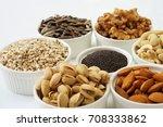 Mix Nut In Ceramic Bowl On...