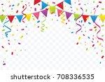 celebration happy birthday or... | Shutterstock .eps vector #708336535