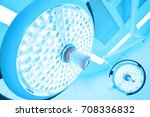 two surgical lamps in operation ... | Shutterstock . vector #708336832