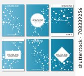scientific brochure design... | Shutterstock .eps vector #708339256