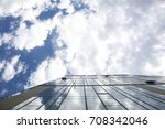 beautiful blue sky with white... | Shutterstock . vector #708342046