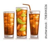 vector set of fizzy drinks  3... | Shutterstock .eps vector #708344326