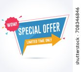 special offer promotion banner. ... | Shutterstock .eps vector #708346846