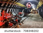 mine equipment and ventilation... | Shutterstock . vector #708348202