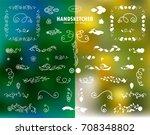 vector calligraphic elements... | Shutterstock .eps vector #708348802