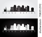 grand rapids usa skyline and... | Shutterstock .eps vector #708351592