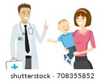 cartoon doctor and mother with...   Shutterstock .eps vector #708355852
