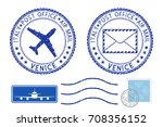 postmarks venice and stamps.... | Shutterstock .eps vector #708356152