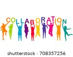 men and women colorful... | Shutterstock .eps vector #708357256
