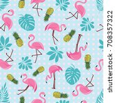 vector seamless pattern with... | Shutterstock .eps vector #708357322