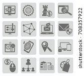 seo development icon set vector | Shutterstock .eps vector #708357922