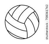volleyball isolated icon | Shutterstock .eps vector #708361762