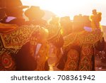 authentic peruvian dance | Shutterstock . vector #708361942
