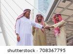 arab businessman stacking hands ... | Shutterstock . vector #708367795