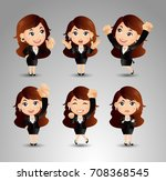 businessperson with different... | Shutterstock .eps vector #708368545