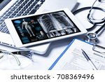 medical technology concept. | Shutterstock . vector #708369496