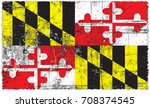 the flag of maryland | Shutterstock . vector #708374545