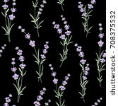 seamless pattern of lavender... | Shutterstock .eps vector #708375532