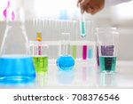 chemical industry bulb with... | Shutterstock . vector #708376546