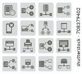 database and network icon set... | Shutterstock .eps vector #708379402