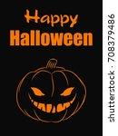 halloween pumpkin vector... | Shutterstock .eps vector #708379486