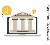 banking and financial services. ... | Shutterstock .eps vector #708381352