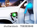 power supply for electric car...   Shutterstock . vector #708383848