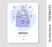 online payments  bitcoin... | Shutterstock .eps vector #708386632
