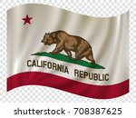 waving flag of california is a... | Shutterstock .eps vector #708387625