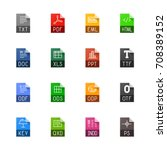 file type icons   texts  fonts... | Shutterstock .eps vector #708389152