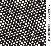 seamless primitive jumble... | Shutterstock .eps vector #708389542