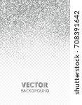 falling glitter confetti.... | Shutterstock .eps vector #708391642