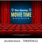 cinema movie time background... | Shutterstock .eps vector #708393412
