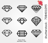 diamond icons vector | Shutterstock .eps vector #708401095