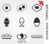 egg icons vector | Shutterstock .eps vector #708401188