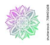 flower mandala vector | Shutterstock .eps vector #708401608