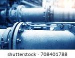 water pipeline in water... | Shutterstock . vector #708401788