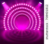 show light podium purple...   Shutterstock .eps vector #708401812