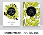 two banners with frame formed... | Shutterstock .eps vector #708402106