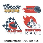 karting race club and... | Shutterstock .eps vector #708405715